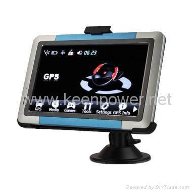 "5.0"" Portable High Definition Touch Screen Car GPS Navigator - Media - Games - S 2"