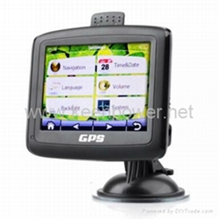 Car GPS Navigator + 3.5 Inch Touchscreen + FM Transmitter + Media