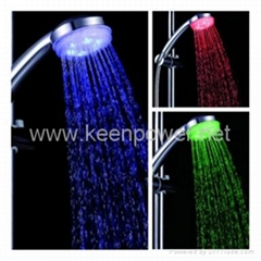 3-inch 6–LED Shower Head (Plastic, Chrome Finish)