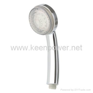 3-inch 6–LED Shower Head (Plastic, Chrome Finish) 3