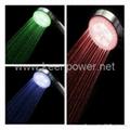 3.35-inch 5–LED Shower Head (Plastic,