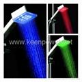 3-inch Square 9–LED Shower Head (Plastic