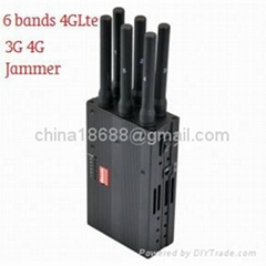 New Handheld 6 Bands 4G Lte 4G Wimax Cell Phone Jammer 4G Jammer 3G Jammer