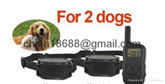 For 2 dogs rechargeable and waterproof pet training guide the system