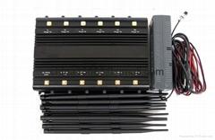 Signal Jammer Factory lanuched 12 Antenna Select Bands Desktop Cellphone signal
