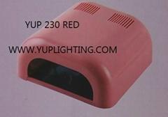 UV Gel Curing Nail Art Lamp Light Dryer, White + 4 x 9W Tube Light Bulbs