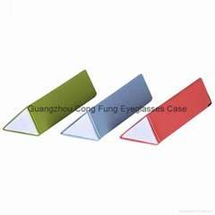 Triangle Sunglasses Case ; PU Leather Hard Case