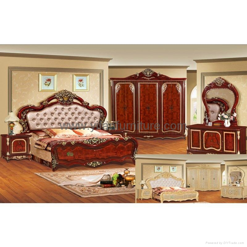 Furniture To Buy Online: Classic Bed For Bedroom Furniture (W805)