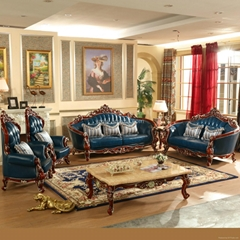 Living Room Furniture with Leather Sofa (521)