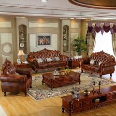 619 Leather Sofa Set for