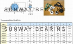 P205 Pillow block bearings