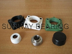 F205 thermoplastic pillow block bearing