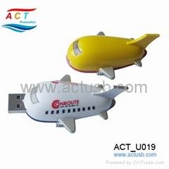 Plastic plane shape USB Stick