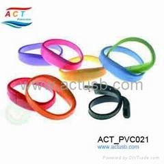 PVC Bracelet flash drive