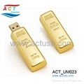 Metal golden bar USB Flash Disk
