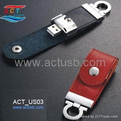 New Leather USB Flash Drive