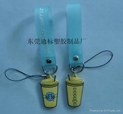 供應PVC塑膠手機繩手機飾品