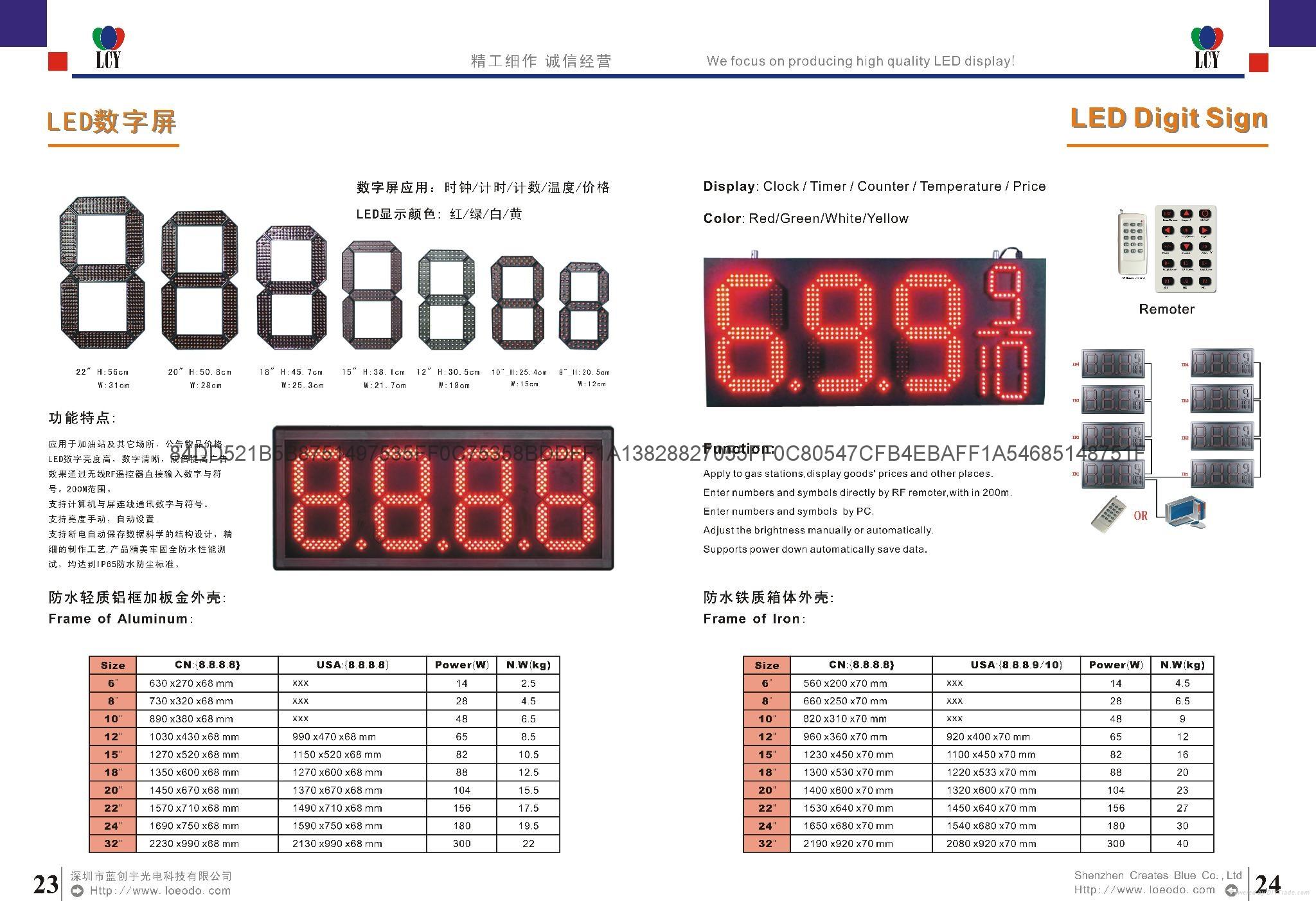 LED時鐘溫度屏 1