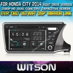WITSON Car DVD Player With GPS For HONDA CITY 2014