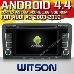 WITSON Android 4.4 Car DVD Player With GPS for AUDI A3/S3/RS3 2003-2012