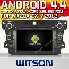 WITSON Android 4.4 Car DVD Player With GPS for MAZDA CX-7 2012