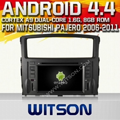 WITSON Android 4.4 Car DVD Player With GPS for MITSUBISHI PAJERO
