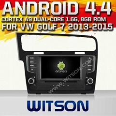 WITSON Android 4.4 Car DVD Player With GPS for VW Golf 7 2013-2015