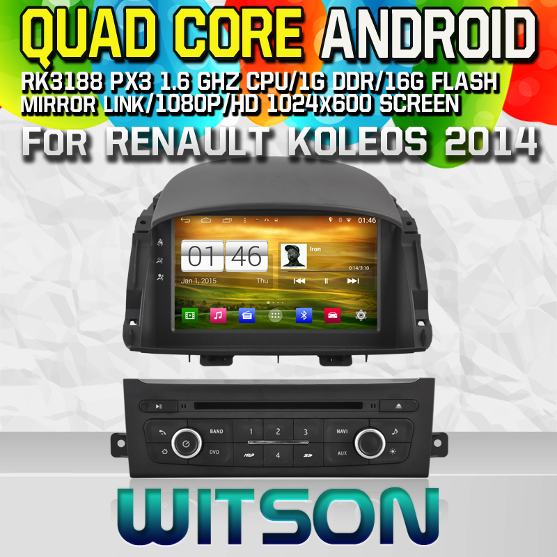 witson android 4 4 car dvd player with gps for renault koleos 2014 w2 m329 china manufacturer. Black Bedroom Furniture Sets. Home Design Ideas