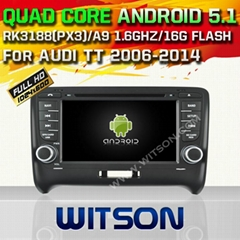 WITSON Android 5.1 Car DVD Player With GPS for AUDI TT(2006-2012)