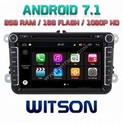 Android 7.1 Car DVD Player With GPS for For VOLKSWAGEN SERIES (W2-Q370)