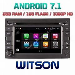 Android 7.1 Car DVD Player With GPS for For SKODA OCTAVIA GOLF4/B5/BORA(W2-Q016)