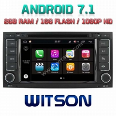 Android 7.1 Car DVD Player With GPS for VW Touareg (2003-2010) (W2-Q042)