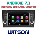 Android 7.1 Car DVD Player With GPS for ForAUDI A4/S4/RS4 (W2-Q050)