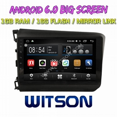 "9"" Android 6.0 Car DVD Player With GPS for HONDA CIVIC 2012-2014 (LHD) (F2149A)"