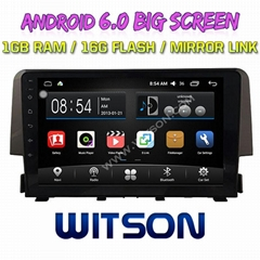 "9"" Android 6.0 Car DVD Player With GPS for HONDA CIVIC (1.0T low) 2016 (F2058A)"
