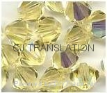 bulk crystal glass beads 4mm bicone