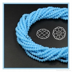 4mm faceted rondelle glass beads jewelry beads