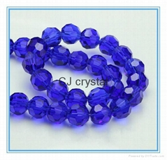 Glass crystal beads Round beads faceted round glass beads