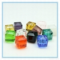 square cube glass beads