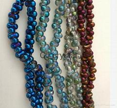 4*6mm Crystal Japanese bone beads peanut shape glass beads