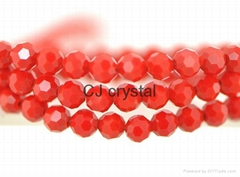 Glass beads 4mm 6mm 8mm football beads for jewelry making