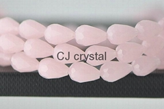 Faceted Jade beads waterdrop shape glass beads wholesale