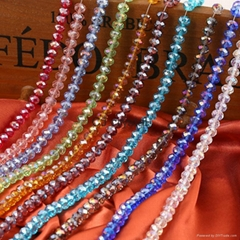 Beads for jewelry making Faceted rondelle glass beads
