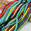 8*6mm faceted rondelle crystal beads