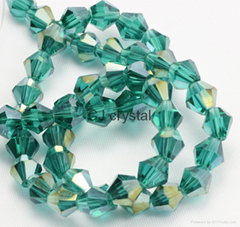 Faceted glass loose beads 4mm bicone beads