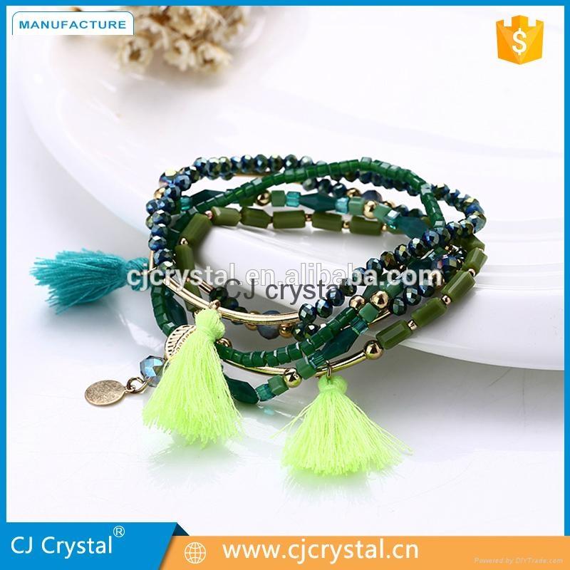 Wholesale fashion jewelry bracelet handmade charm crystal bracelet latest design 1