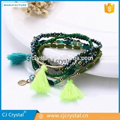 Wholesale fashion jewelry bracelet handmade charm crystal bracelet latest design