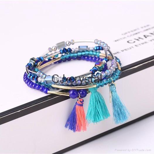 Wholesale fashion jewelry bracelet handmade charm crystal bracelet latest design 5