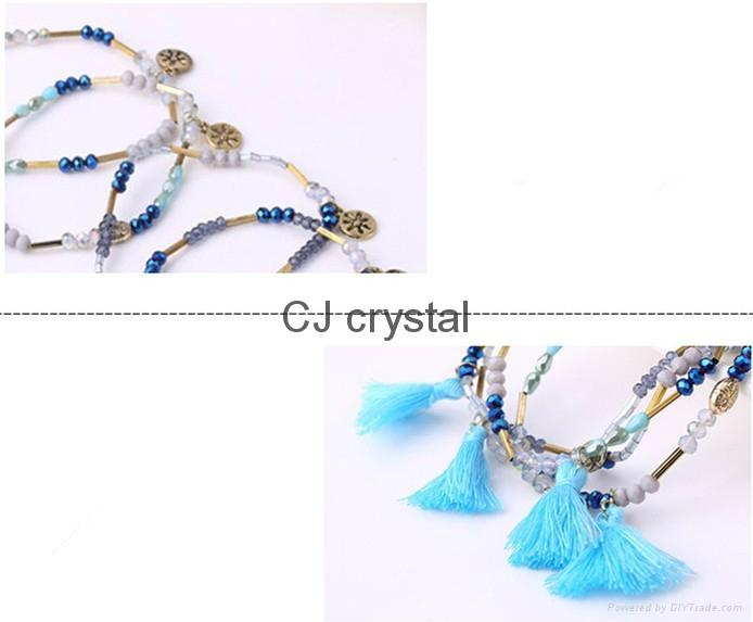 Wholesale fashion jewelry bracelet handmade charm crystal bracelet latest design 3