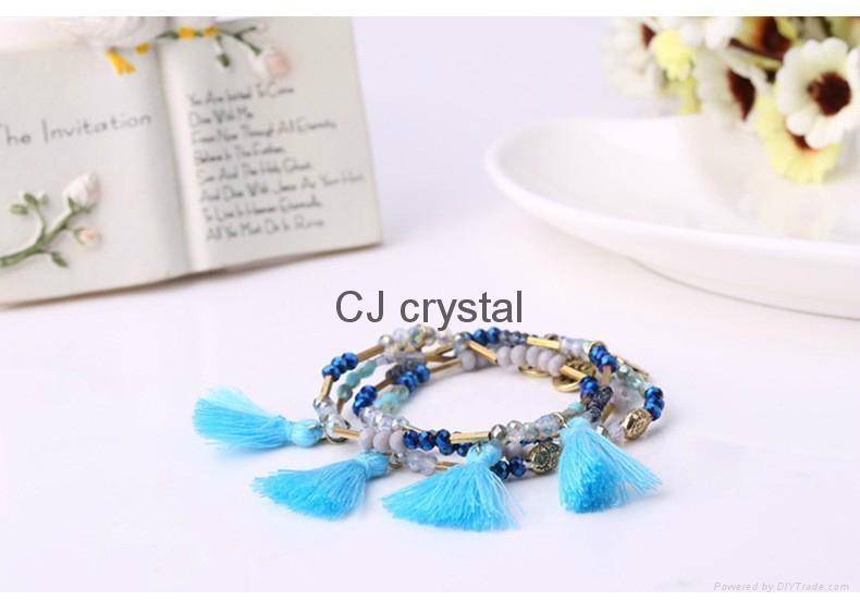 Wholesale fashion jewelry bracelet handmade charm crystal bracelet latest design 2